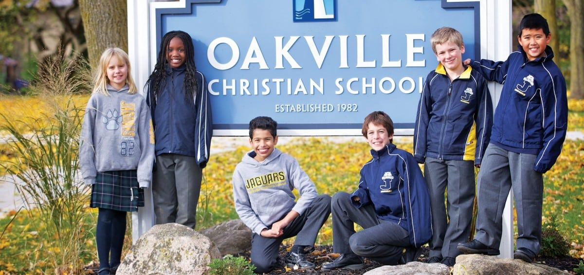 Young children receive Christian education at Oakville Christian school.